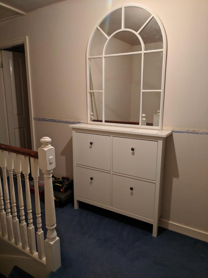 The Range Mirror on Hemnes Cabinet