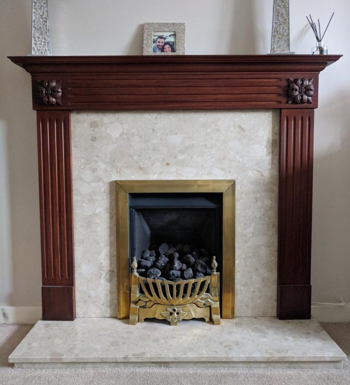 Original 1990s fireplace