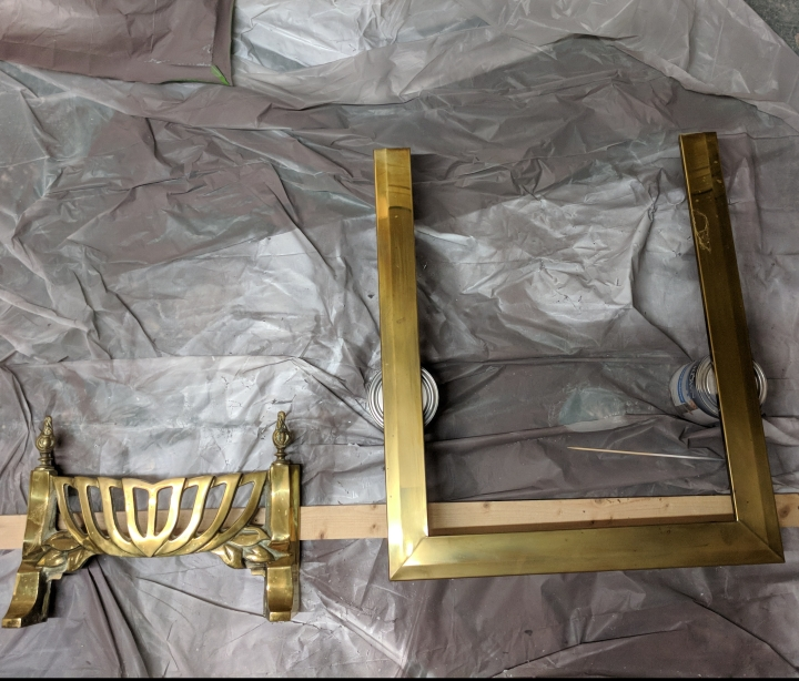 Prerparing brass fire for spray painting