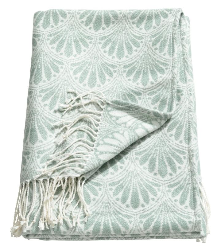 Green Jaquard Blanket
