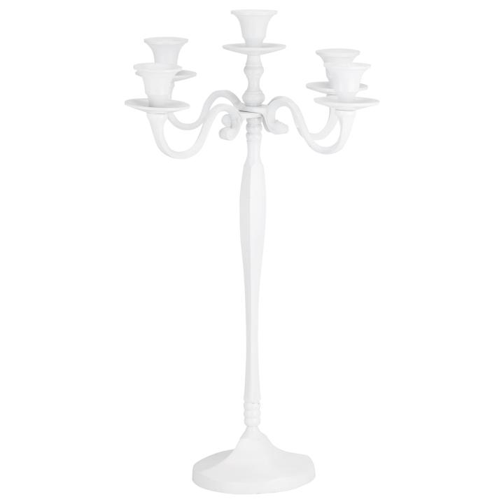 white candleabra