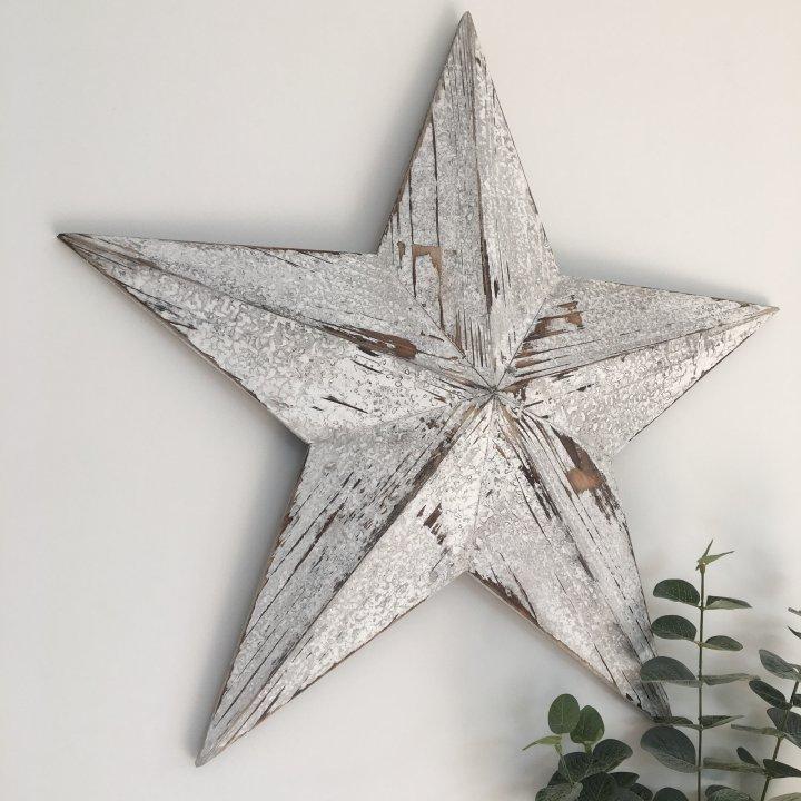 White_Wooden_Barn_Star_Square